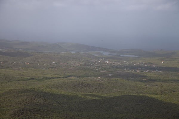 Picture of Christoffelberg (Netherlands Antilles): The view from Christoffelberg with the surrounding landscape and sea