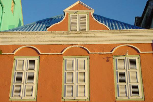 Picture of Punda architecture in Willemstad - Curacao