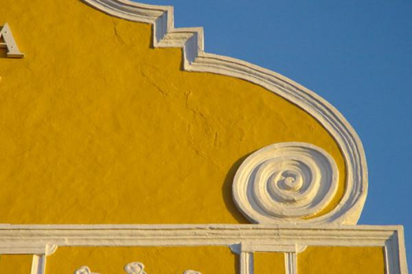 Detail of the famous Penha building | Curacao Architecture | Netherlands Antilles