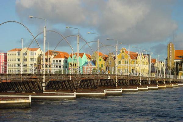 Against the Punda skyscape | Pontoon Bridge | Netherlands Antilles