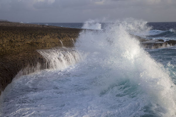 Picture of Waves pushed up high at the coast of Shete BokaShete Boka - Netherlands Antilles