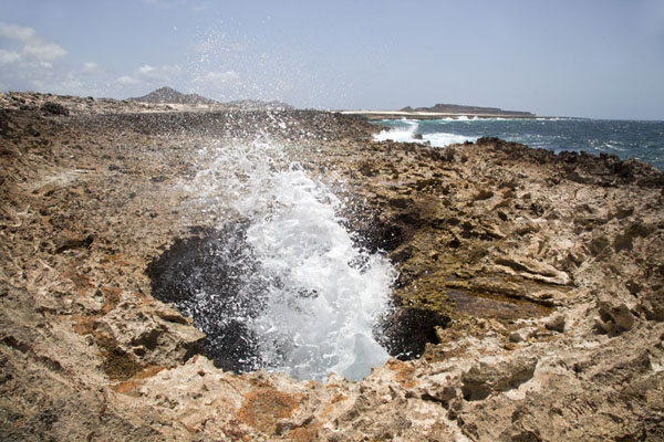 Blowhole on the Lagadishi Walking trail | Washington Slagbaai National Park | Antillas holandesas