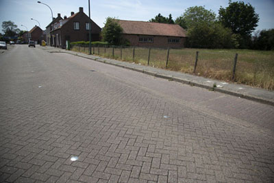 Picture of Dutch counter-enclave in a Belgian enclaveBaarle - Netherlands