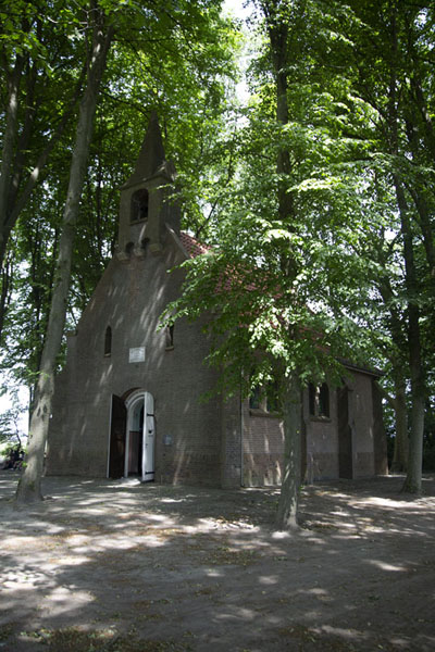 Foto van The Saint Salvator Chapel at the end of KapelstraatBaarle - Nederland