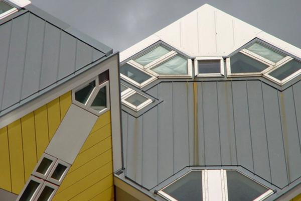 Close up of two houses | Cube Houses | Netherlands
