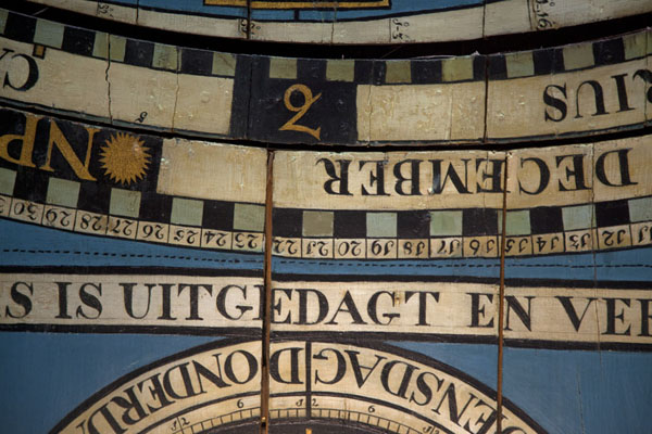 Close-up of the ceiling of the orrery | Eise Eisinga Planetarium | Netherlands