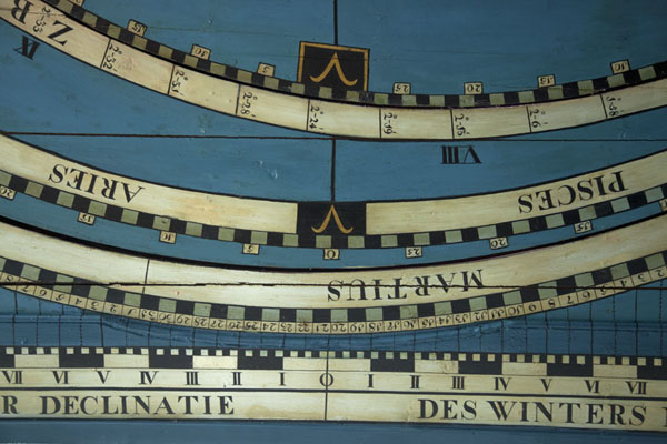 Foto de Close-up of part of the ceiling of the orrery in the planetariumFraneker - Paises Bajos