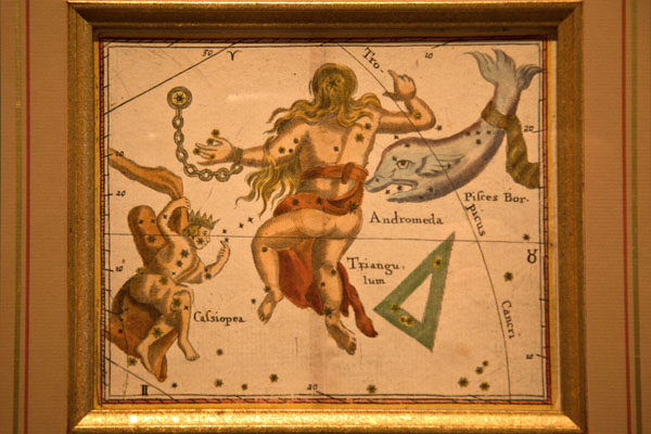 Painting with stars showing several constellations in the sky | Eise Eisinga Planetarium | Netherlands