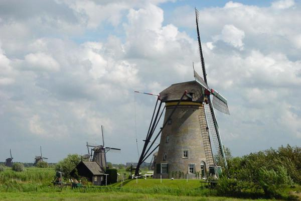 Typical landscape in The Netherlands | Kinderdijk | Netherlands