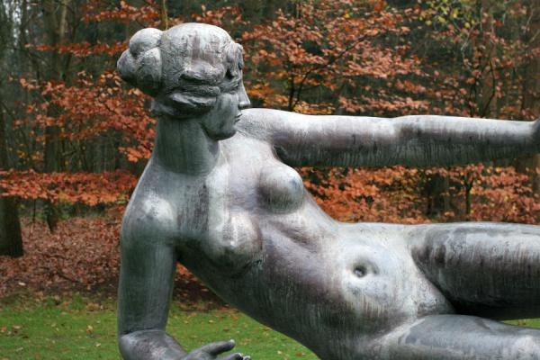 Close-up of sculpture of woman, l'Air, by Aristide Maillol | Kröller Müller Sculpture Garden | Netherlands