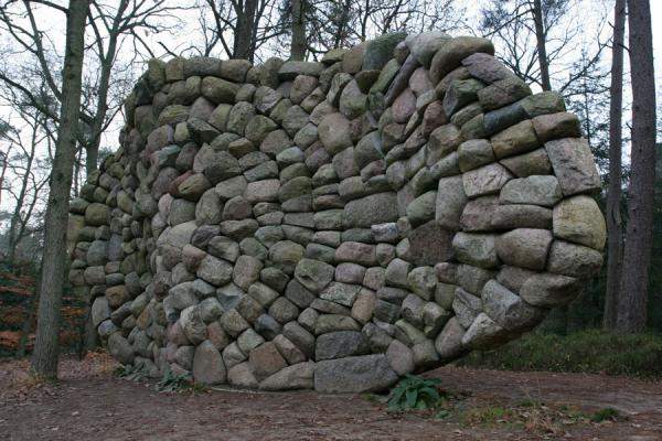 Stones making up Echo of the Veluwe by Chris Booth | Kröller Müller Sculpture Garden | Netherlands
