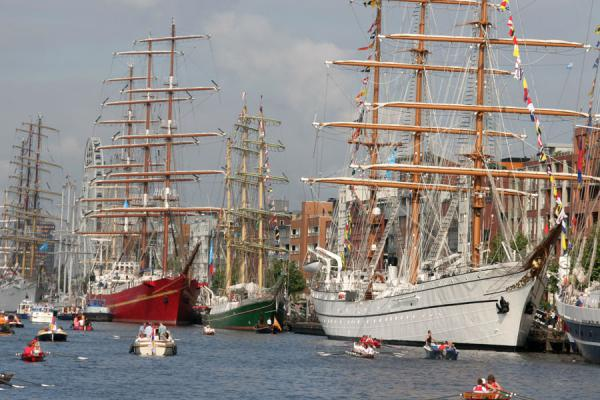 One of the quays filled with tall ships of Sail Amsterdam | Sail Amsterdam | Netherlands