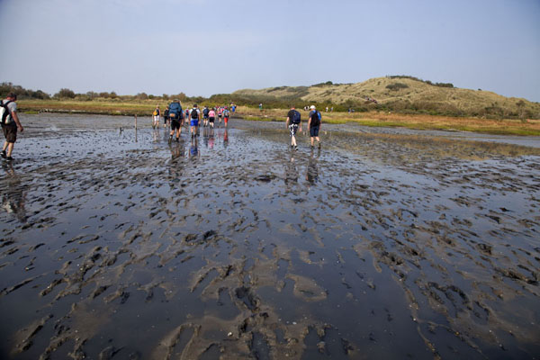 Arriving at the island of Ameland means that the hike is over | Mudflat hiking Ameland | Netherlands