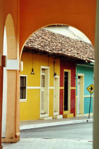 Picture of One of the lovely streets seen through archesGranada - Nicaragua