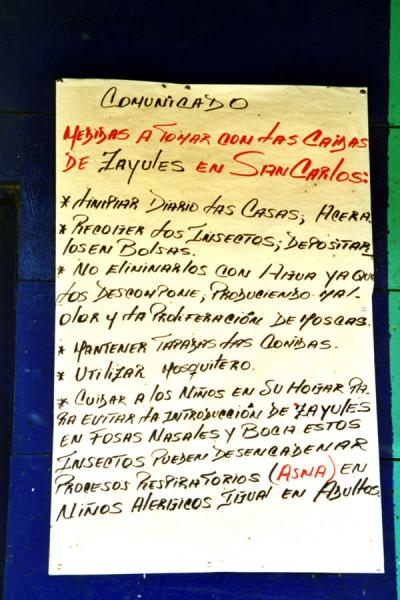 Picture of Recommendations for the inhabitants of San CarlosSan Carlos - Nicaragua