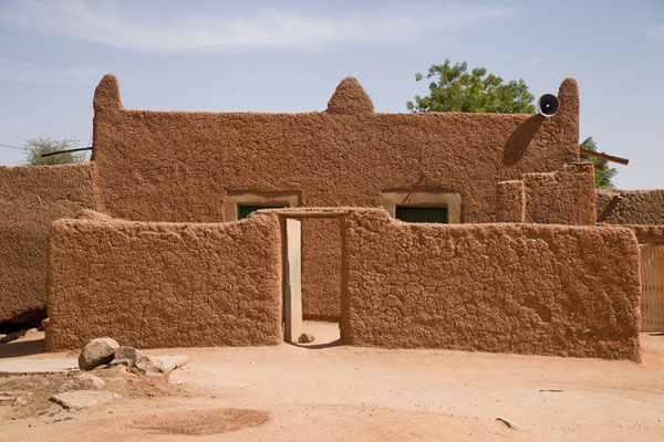 Picture of Adobe mosque in the old town of Agadez
