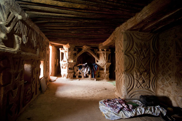 Room in the Maison du Boulanger, in which Senegalese baker Sidi Ka shows off his creative spirit | Agadez Old Town | Niger