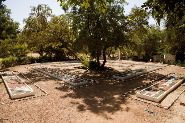 Flags of African countries on a square on the grounds of the National Museum | National Museum of Niger | Niger