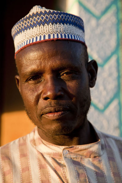 Hausa man posing for a picture at the end of the day | Zinder Oude Stad | Niger
