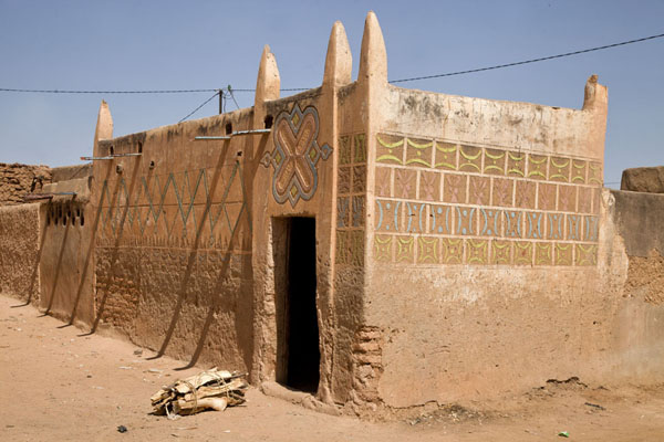 Picture of Zinder Old Town (Niger): One of the typical Hausa houses with exterior decorations in the old town of Zinder