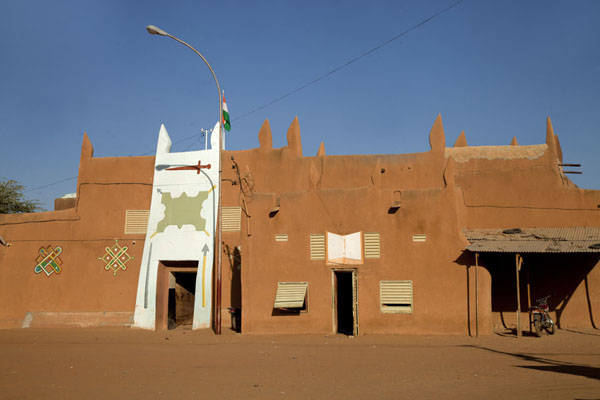 Frontal view of the Sultan's Palace of Zinder | Zinder Sultan Palace | Niger