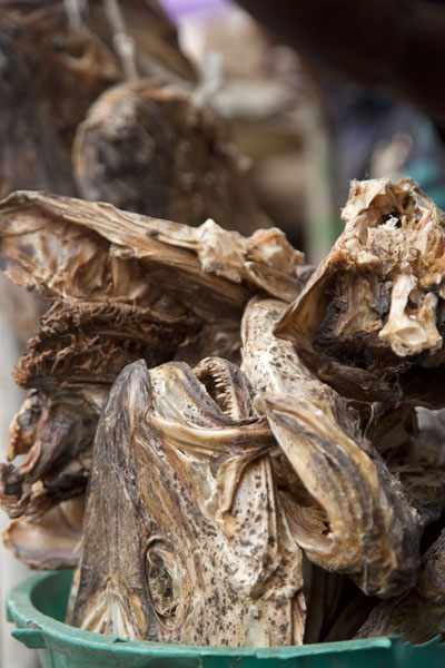 Picture of Close-up of dried fish for sale at Oyingbo market - Nigeria - Africa