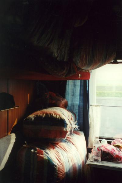 Picture of Train compartment packed with luggageNorth Korea - North Korea