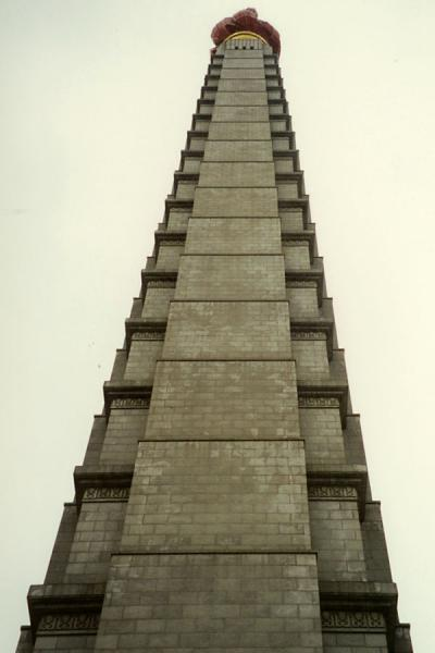 Picture of Juche Tower in Pyongyang