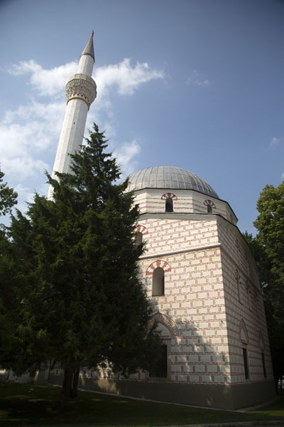Foto van The Isak mosque in the heart of Bitola - Noord-Macedonië - Europa
