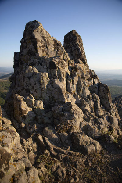 Foto van The rocks at the summit of KokinoKokino - Noord-Macedonië