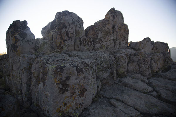 Picture of One of the rocky thrones on Platform A from where religious rituals were carried out in the Bronze AgeKokino - North Macedonia