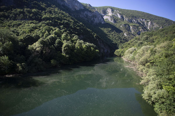 One of the wider sections of Matka lake | Matka canyon | North Macedonia