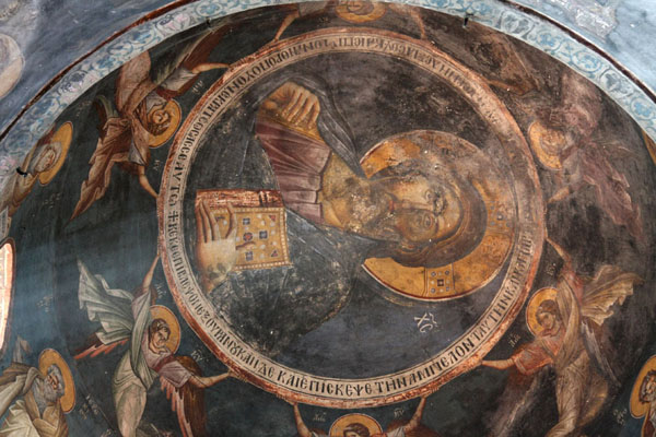 Picture of Ceiling paintings inside Sveta Bogorodica Perivlepta churchOhrid - North Macedonia