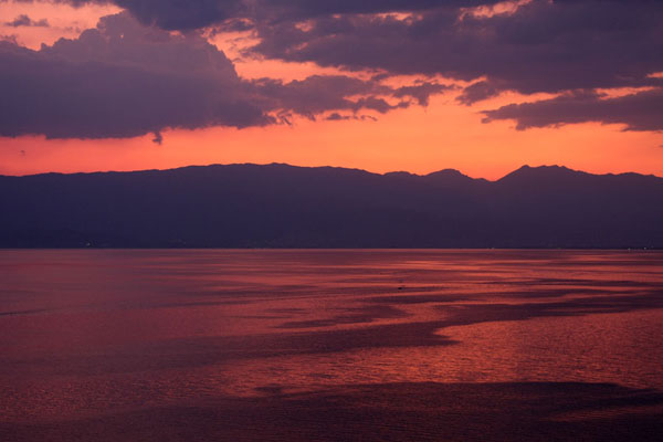 Picture of Sunset over Lake OhridOhrid - North Macedonia