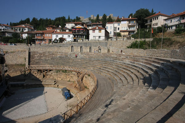Foto de Classical Amphitheatre - built by the Romans and still functionalOhrid - Macedonia del Norte