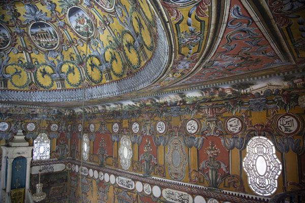 View of the upper part of the interior of the painted mosque | Mezquita pintada  | Macedonia del Norte