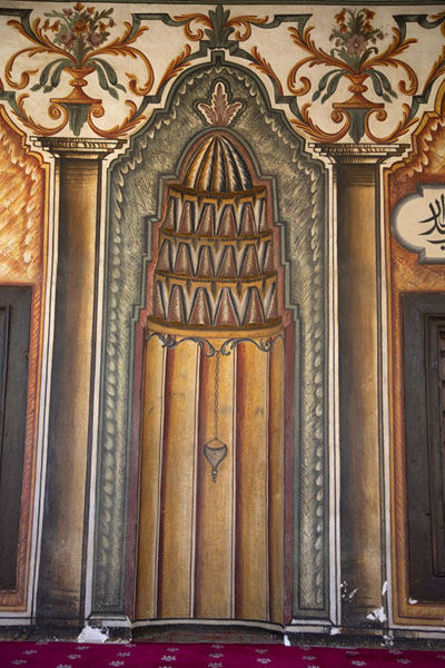 The mihrab in the painted mosque of Tetovo | Mosquée peinte | Macédoine du Nord
