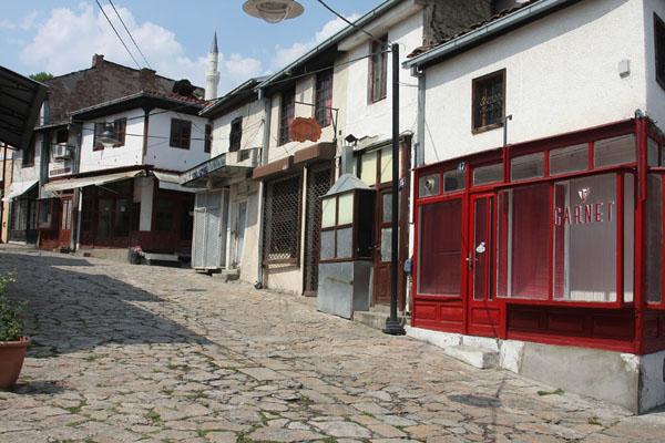Foto di Street in the bazaar in the historical city centre of SkopjeSkopje - Macedonia del Nord