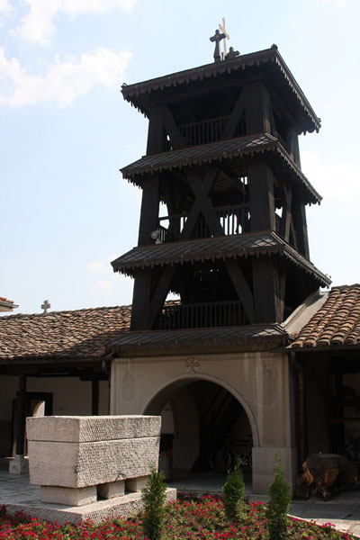 Foto van Bell tower of Sveti Spas and tomb of Goce Delcev, the Macedonian national heroSkopje - Noord-Macedonië