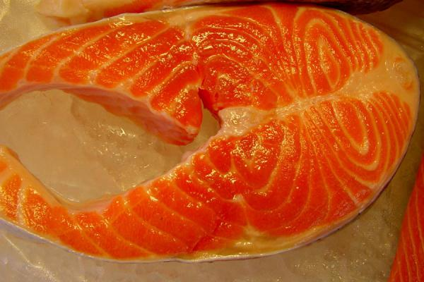 Picture of Bergen Fish Market (Norway): Fillet of salmon, Bergen fishmarket