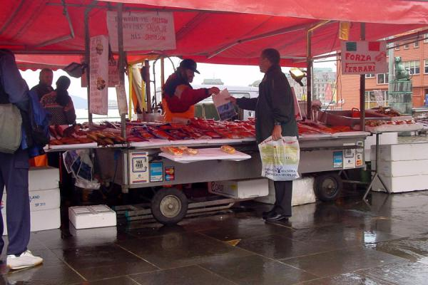 Picture of Bergen fishmarket: stall