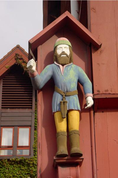 Picture of Bryggen (Norway): Decoration on house in Bryggen