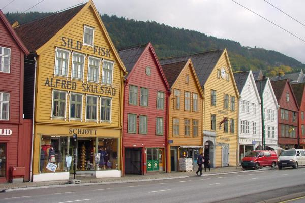 Picture of Bryggen (Norway): Bryggen: Bergen's most famous area