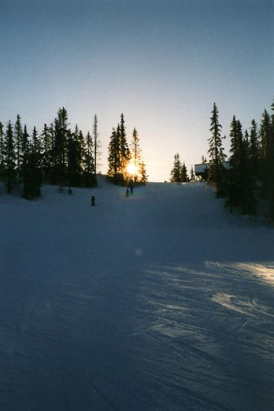 Picture of The end of a day of skiing at Hafjell: one of the slopes