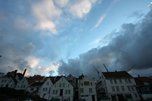 Picture of Old Stavanger (Norway): Clouds and sunset over Old Stavanger