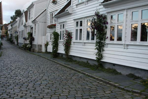 Light reflected in one of the houses of Old Stavanger | Old Stavanger | Norway