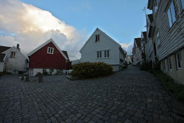 Picture of Old Stavanger (Norway): Wooden houses surrounding a small square in Old Stavanger