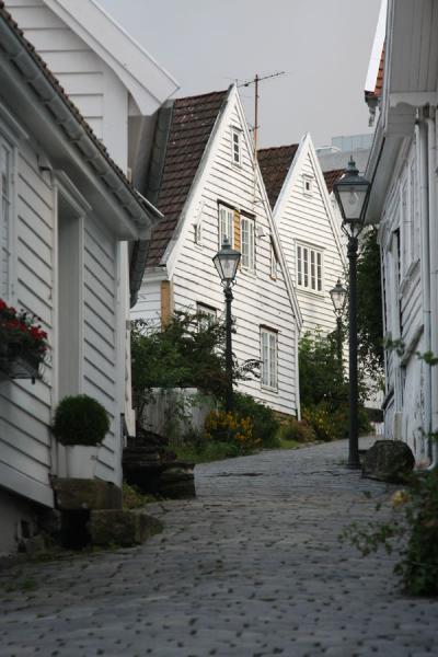 Picture of One of the cosy cobble-stone streets of Old StavangerStavanger - Norway