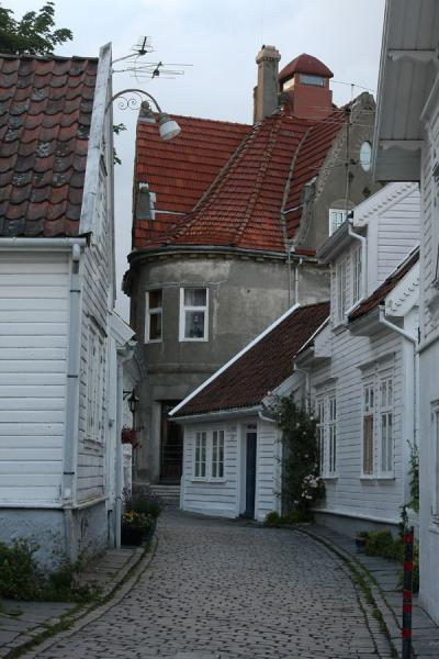 Curvy street in Old Stavanger | Old Stavanger | Norway