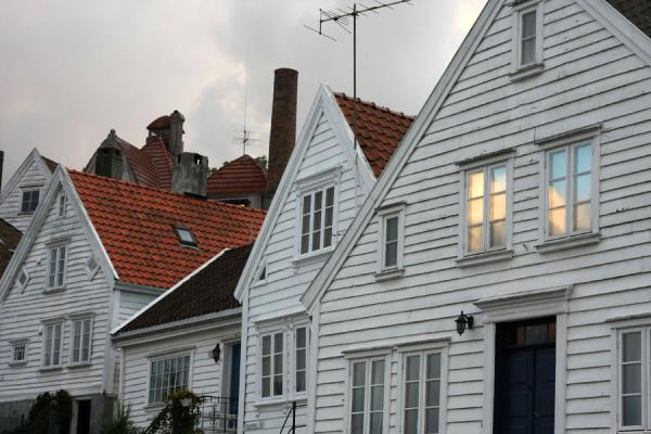 Late daylight falling into a window of a house in Old Stavanger | Old Stavanger | Norway